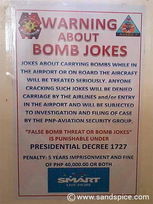 Manila bomb jokes
