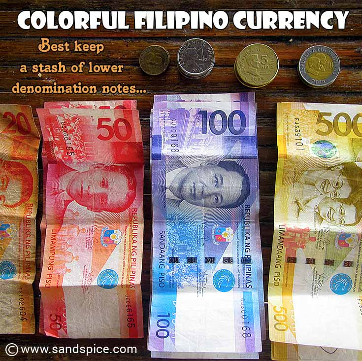 Colorful Filipino Currency