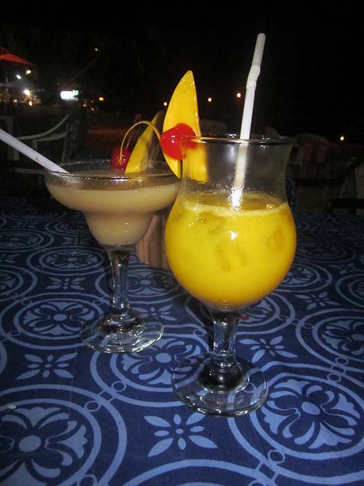 Cocktails on Alona Beach