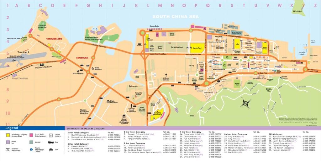 Kota Kinabalu Borneo Street Map