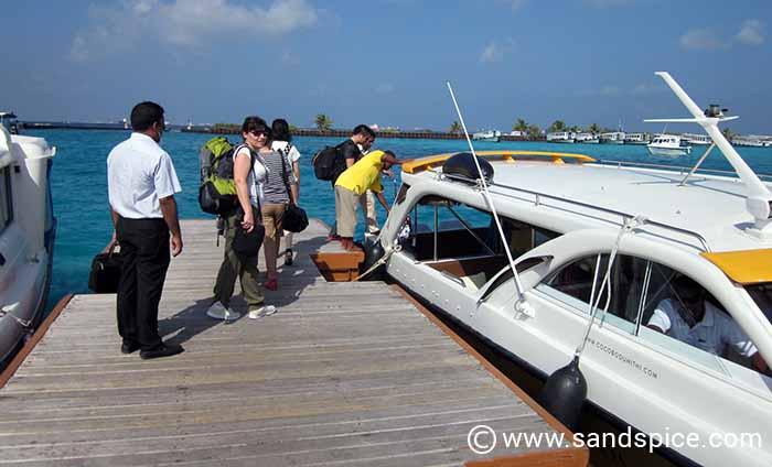 Speedboat from Male to Makunudu Island