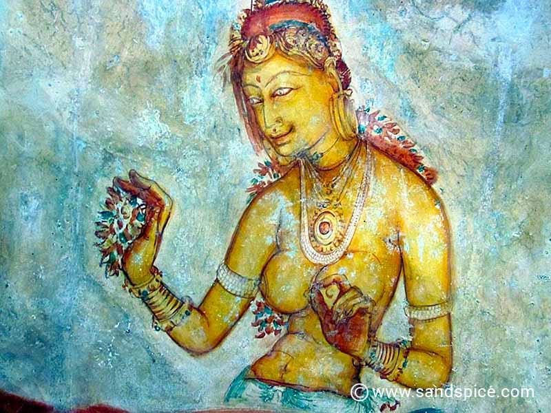 Lion Rock Buddhist - Sigiriya painting