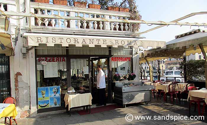 "Ristorante Roma from the Venice of ""Don't Look Now"""