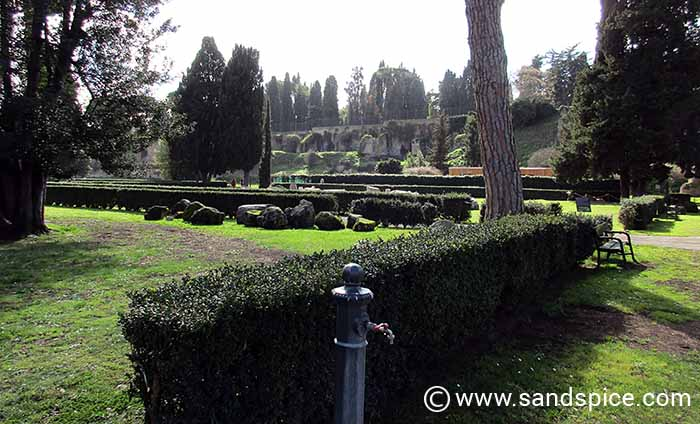 Rome Attractions in Autumn - Caracalla Gardens