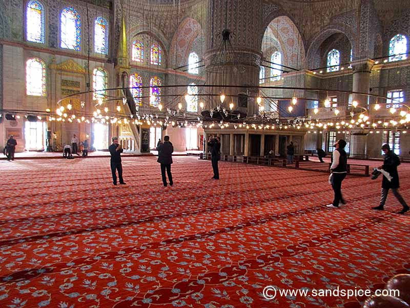 Istanbul Mosques - The Blue Mosque Prayer Area