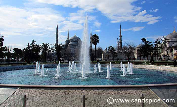 Mosques and Minarets - View towards Hagia Sophia from Sultanahmet Park