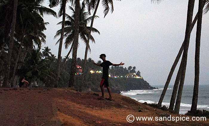 Cliffs of Varkala, Kerala - Looking towards the North Cliff