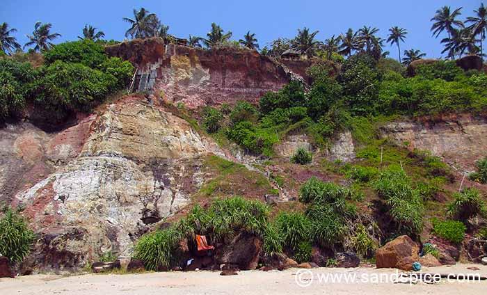 North Cliffs of Varkala, Kerala