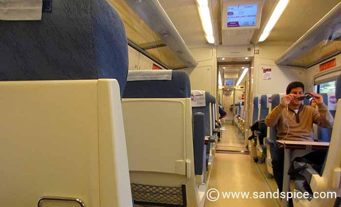 Regionaltrain from Girona to Barcelona
