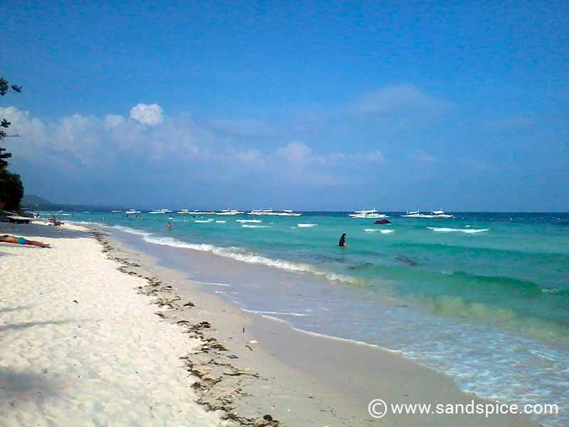 The white sands of Dumaluan beach, Philippines