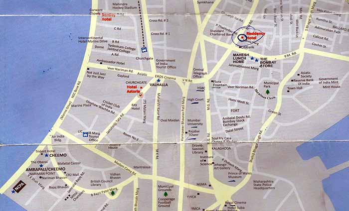 Map of Southern Mumbai
