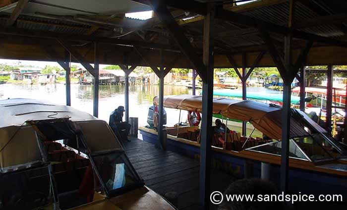 Boarding the boat in Bocas