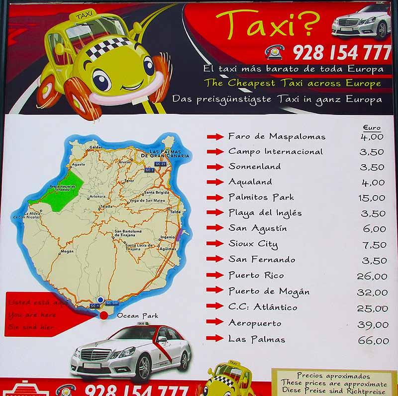 Maspalomas Gay Paradise - Maspalomas Taxi Prices