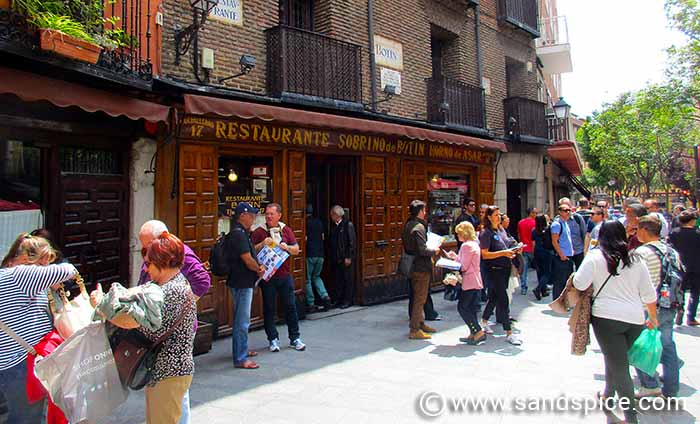 Madrid Attractions and Eating Out - Restaurant Sobrino de Botin