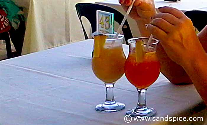 Cocktails on Alona Beach