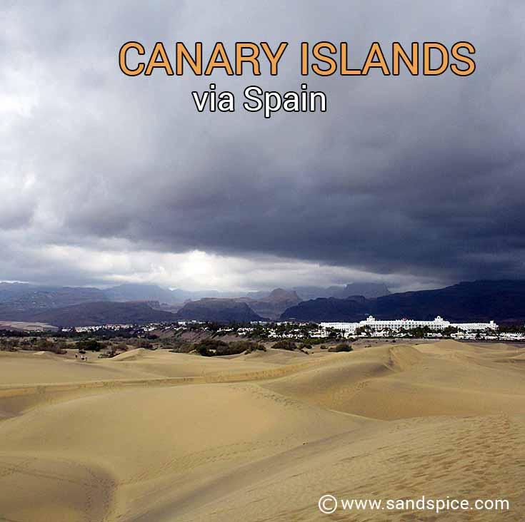 Canaries via Spain
