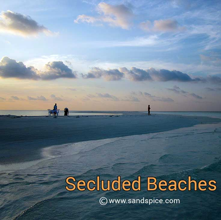 secluded tropical beaches