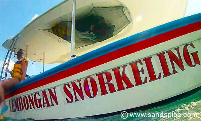 Our boat (snorkelers-eye view)