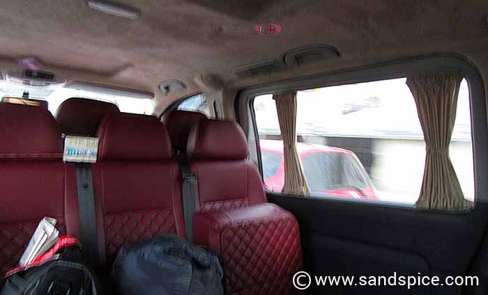 Inside the scammers minibus