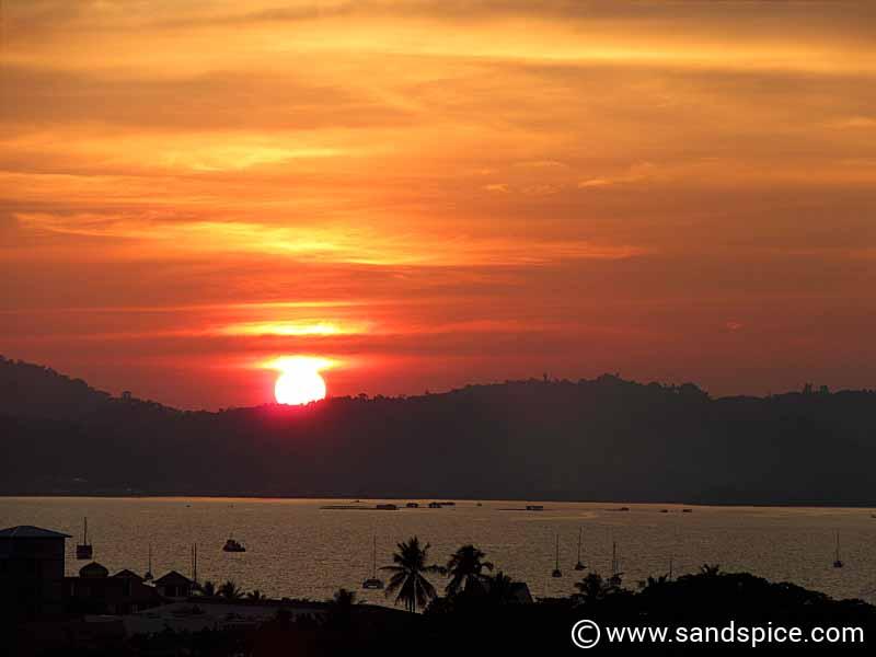 Sunset view from Sri Lagenda Kuah Langkawi