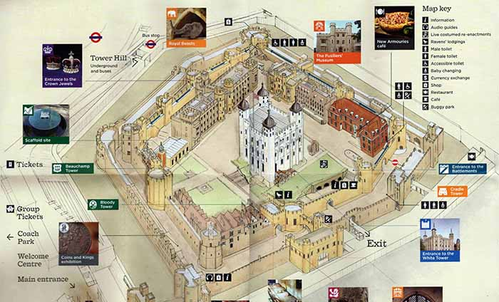 London City Stopover - Tower of London Map