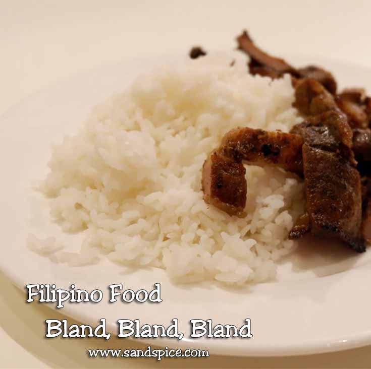 Bland Filipino Food