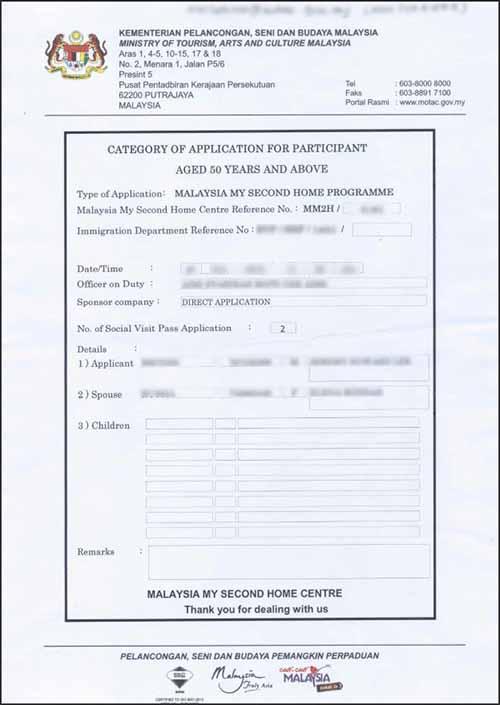 MM2H Confirmation Letter (NOT Approval Letter)