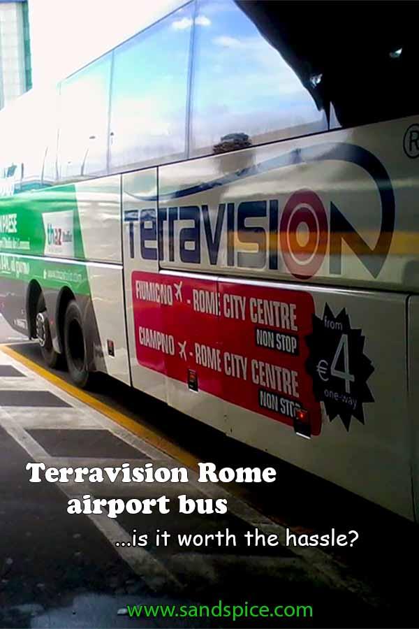 The Terravision Rome Airport Bus
