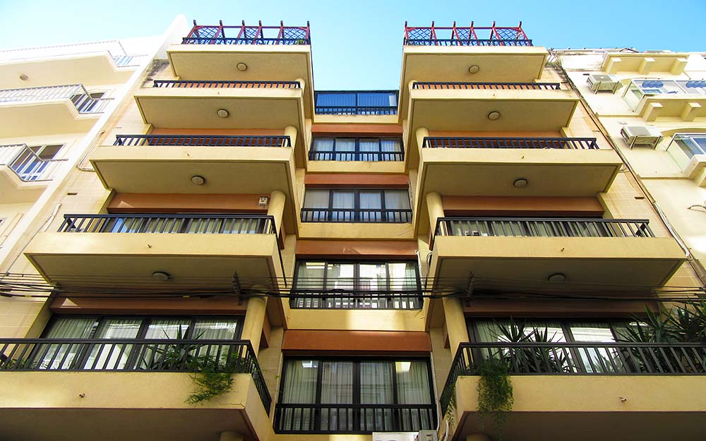 Malta Seafront Penthouse For Sale Building Facade - Spinola Road
