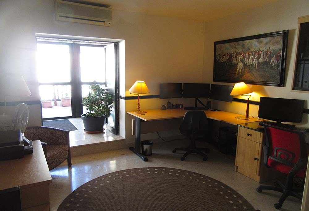 Office / Bedroom 3 - Malta Penthouse Apartment For Sale – Seafront Property, Spinola Road St Julians