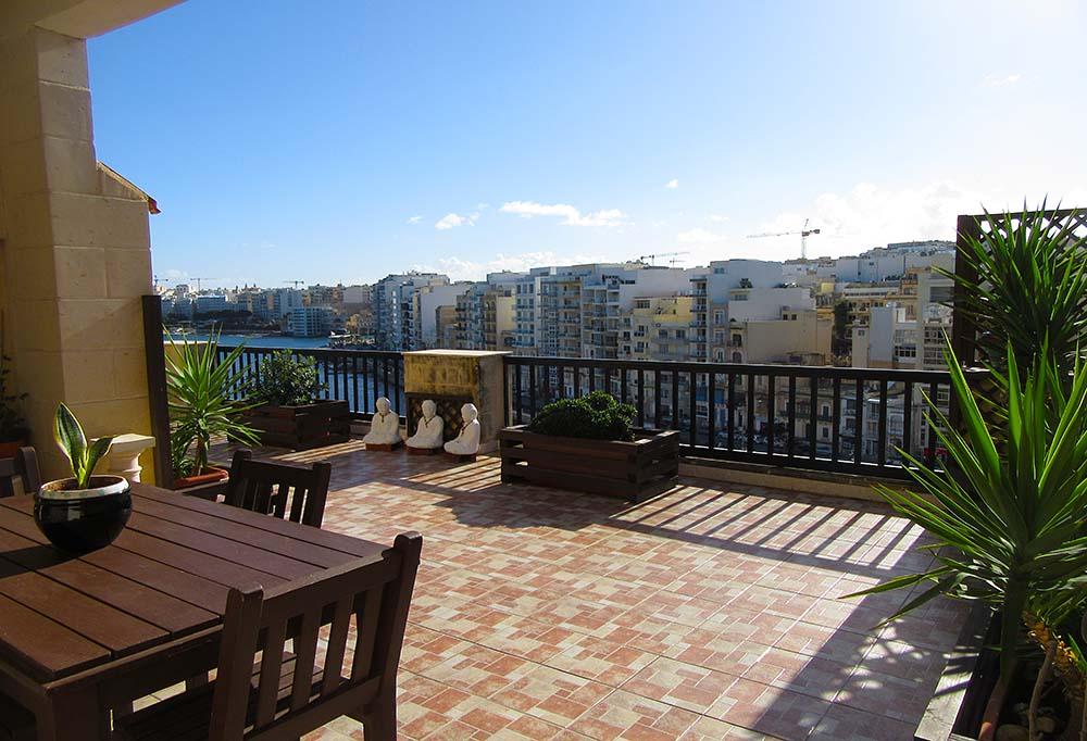 Malta Penthouse Apartment For Sale – Seaview Property - Seafront Terrace, Spinola Road St Julians