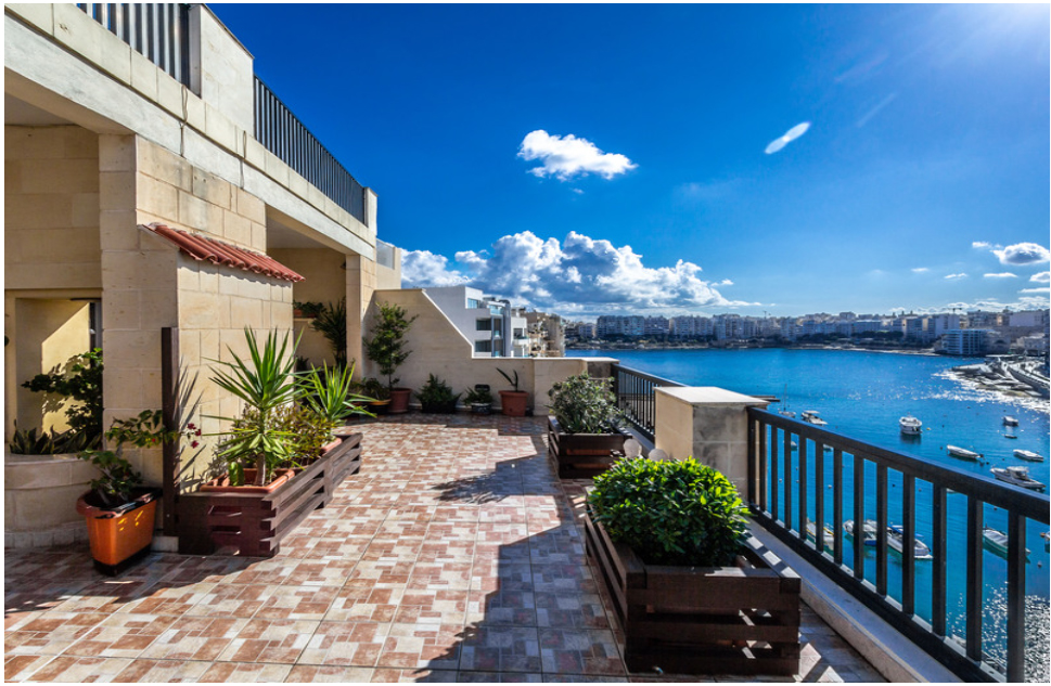 Malta Seafront Penthouse For Sale - Seafront Terrace