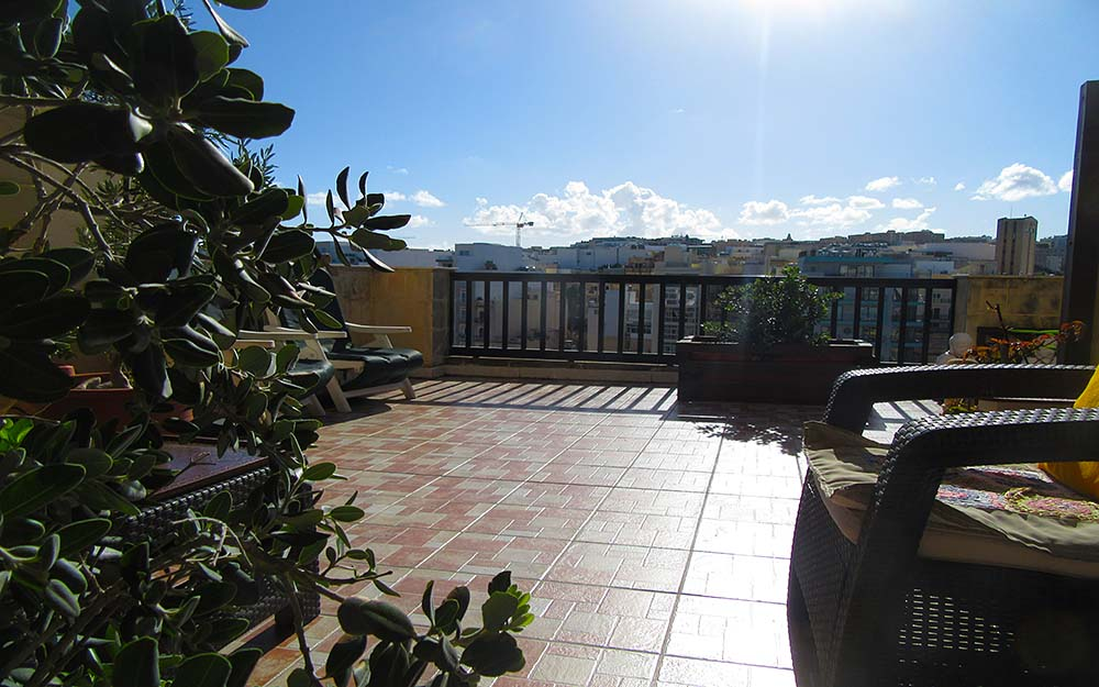 Malta Seafront Penthouse For Sale - Front Terrace