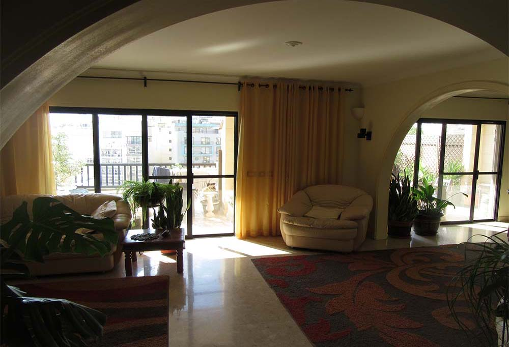 Malta Penthouse Apartment For Sale – Seafront Property - Living Room, Spinola Road St Julians