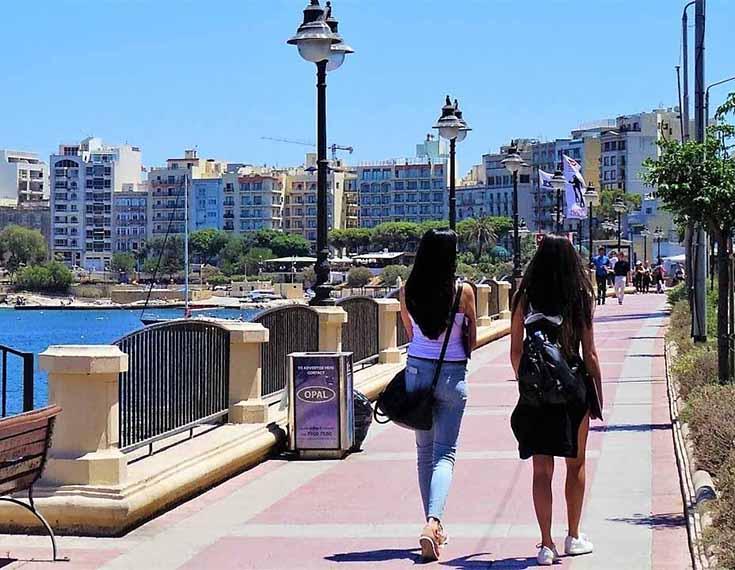 Promenade: 50 m Malta Seafront Penthouse For Sale - Seafront Terrace