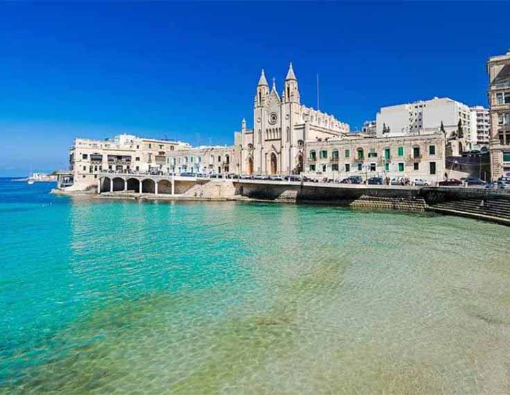 Baluta Beach: 800 m Malta Seafront Penthouse For Sale - Seafront Terrace