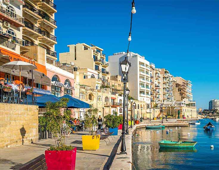 Malta Seafront Penthouse For Sale - Fishing boats: 20 m