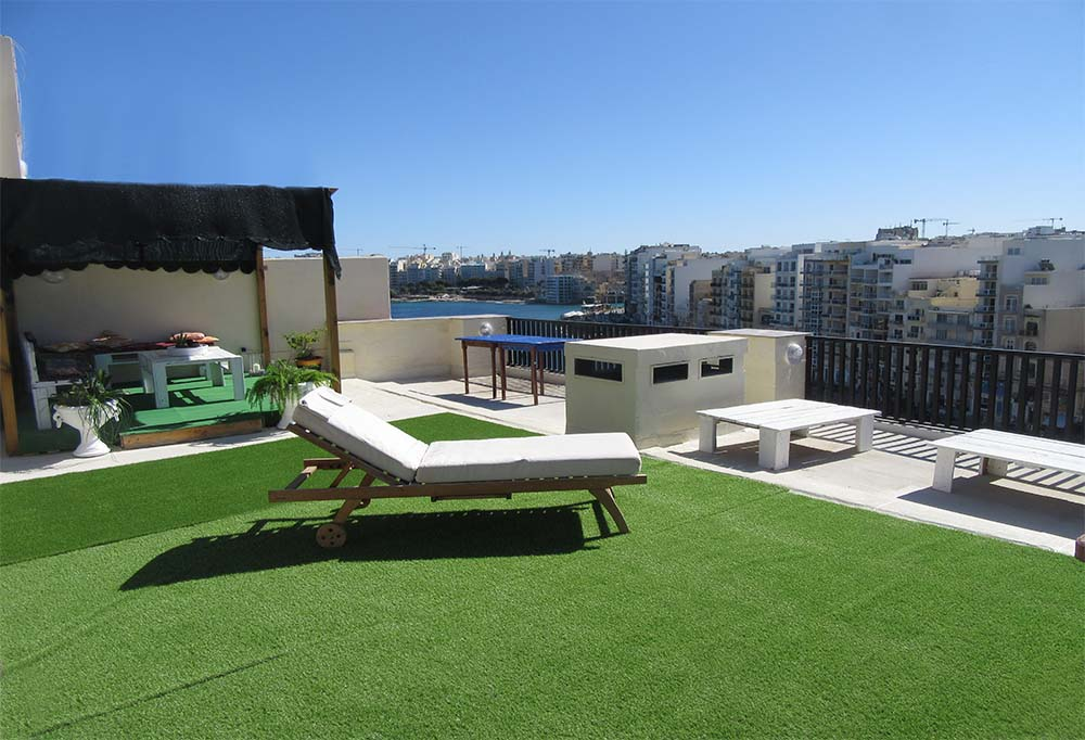 Malta Seafront Penthouse For Sale - Roof Garden