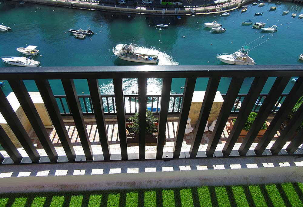 Malta Seafront Penthouse For Sale - Roof Garden View